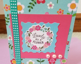Lovely as a Flower Greeting All Occasion Greeting Card