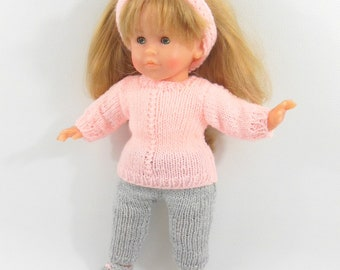 Doll clothes - set pink and gray