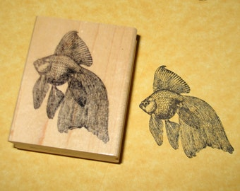 Japanese Fantail Goldfish Rubber Stamp