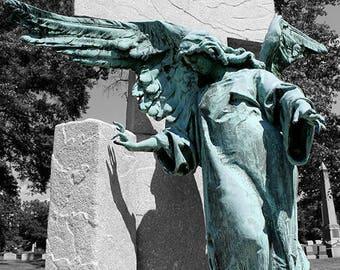 Christian Angel Cemetery Statue Gravestone Photo Print