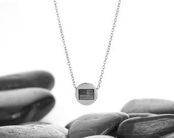 American Flag, Flag Necklace, Patriotic Necklace, Patriotic Jewelry, USA Necklace, Flag Jewelry, 4th of July, Fourth of July, USA Flag, 246s