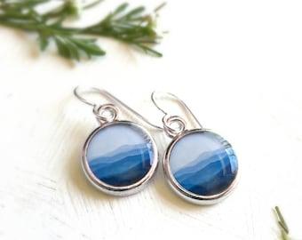 MOUNTAIN JEWELRY | Blue Mountain Earrings | Nature Gift | Blue Ridge Mountains