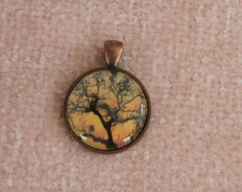Pendant: Silhouetted Tree at Sunset
