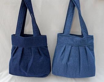 Lined Denim Shoulder Bag