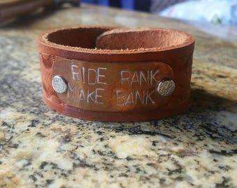 Ride Rank, Make Bank bracelet