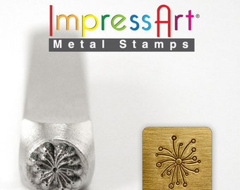 """FREE SHIPPING Dandelion Metal Stamp 6mm 1/4"""" Steel Punch Flower Weed ImpressArt Custom Stamping Jewellery Tool Craft Personalized Jewelry"""