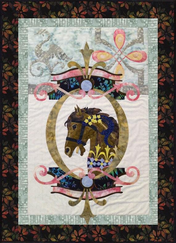 De La Promenade En Noir Block Six Carousel Quilt Pattern Brown