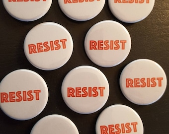 "RESIST 1.25"" buttons - set of 10"