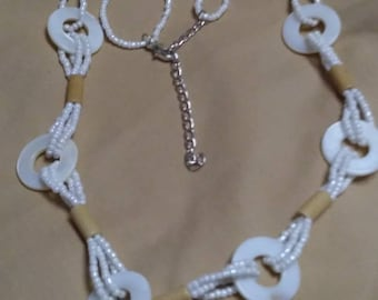 White Party Mother of Pearl Necklace