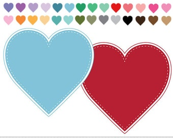 Hearts Clipart Pastel Hearts Clip Art Scrapbooking Stitched Heart Frames Digital Frames Dotted Hearts Wedding Invitations Logo Photo
