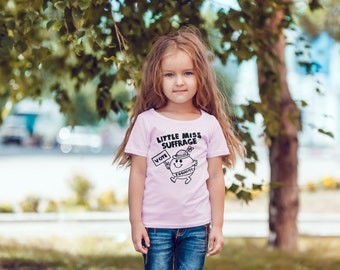 """Feminist Youth TShirt: """"Little Miss Suffrage"""" Triblend Youth Shirt (multiple colors) by Fourth Wave Feminist Apparel"""