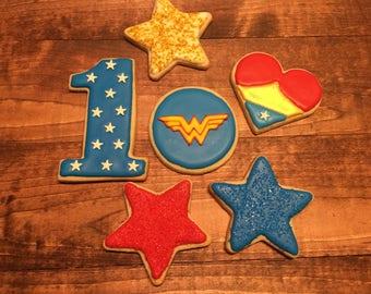 Wonder Woman Cookies Dozen