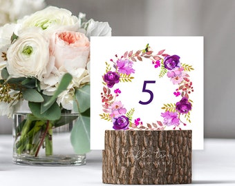 Table Number Cards - Purple Passion (Style 13785)