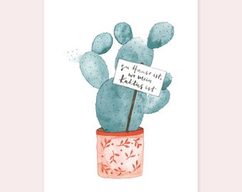 "Postcard ""Home is where my cactus is"""