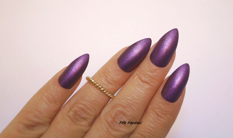 Purple Stiletto Nails, Coffin Nails, False nails, Kylie Jenner ...