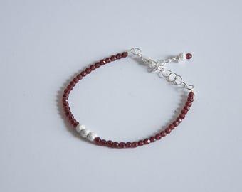 Sterling Silver Garnet & Stardust Bracelet