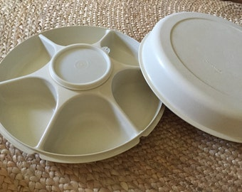 Tupperware Serving Center Vegetable/Dip Server 1665, 1666, 1667 and 215