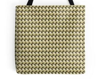 Geometric tote bag, market shopper, tote bag, geometric print, shopping bag, gold tote bag, tote shopper, market bag, Gold Geometric Bag