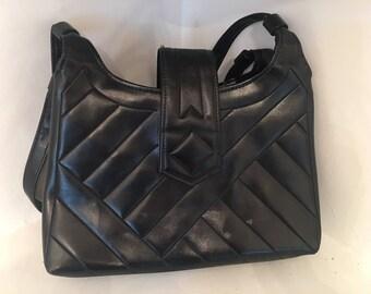 Vintage Faux Leather Black Purse