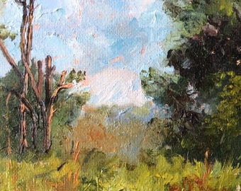 "Texas Spring #4,  5x7"" Original Oil Painting on panel"