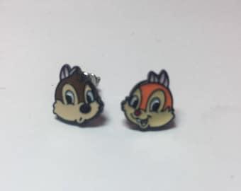 Chip n Dale earrings, Disney earrings, Disney jewelry, Fish extenders, Disney cruise