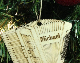 Accordion Personalized Christmas Ornament