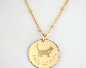 Custom pet necklace, animal necklace, cat necklace, Pet Memorial, Paw Print, dog necklace, pet name necklace,  pet memorial pet jewelry gift