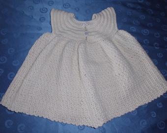Baby dress in cream