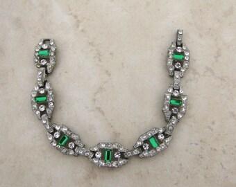 Art Deco Bracelet, Wedding Jewelry