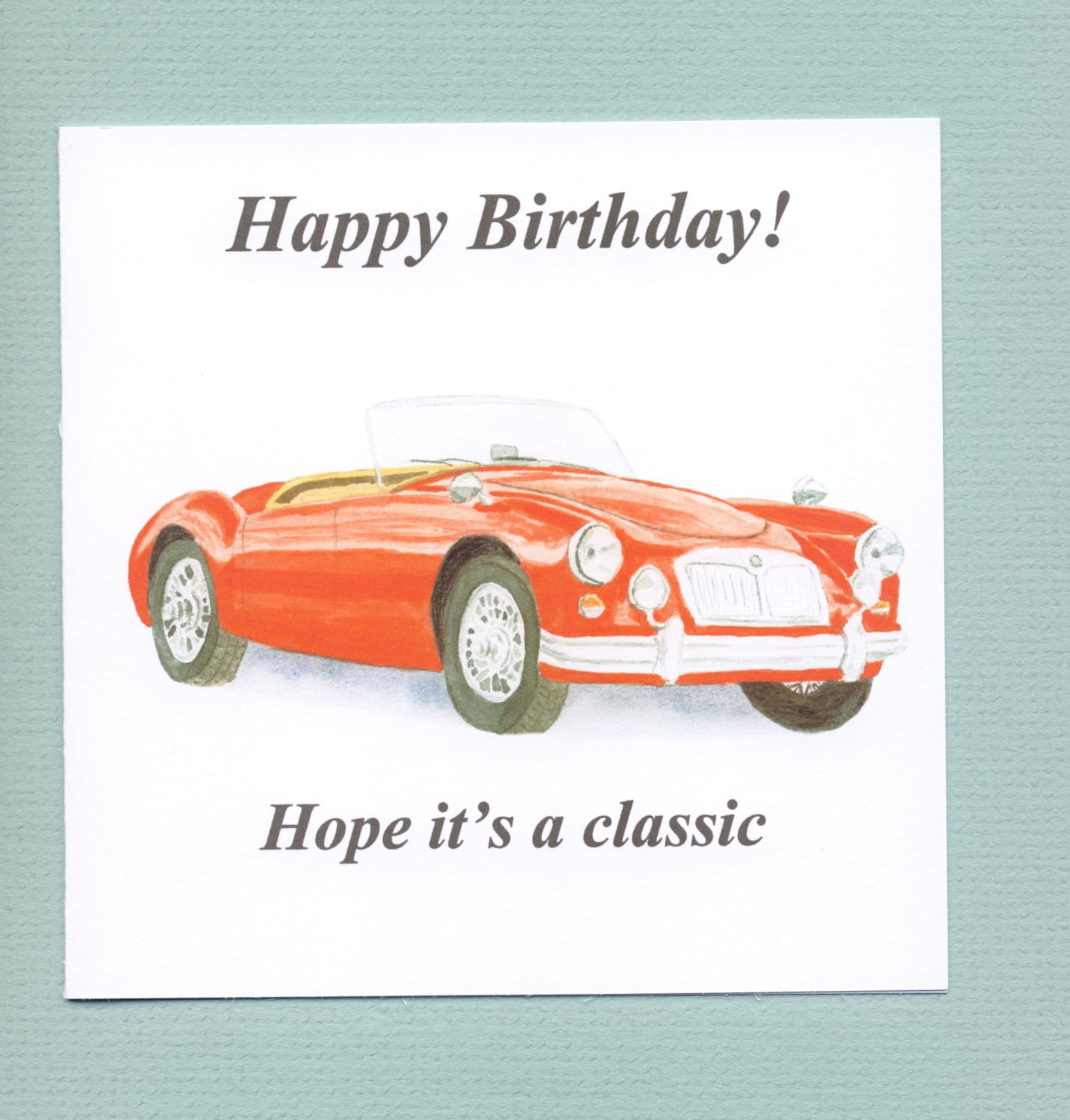 MGA MG A Red Classic Car Birthday Card For Men