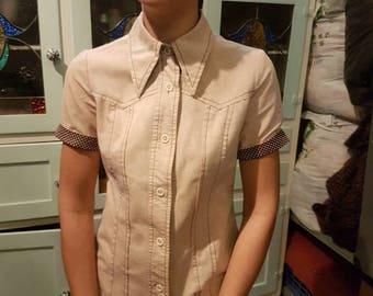Original 1970's Winged Collar Shirt
