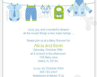 DIY - Invite - It's A Boy / It's A Girl Baby Shower