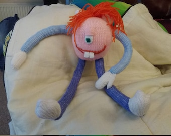 Hand Knitted Noodle Head Monster