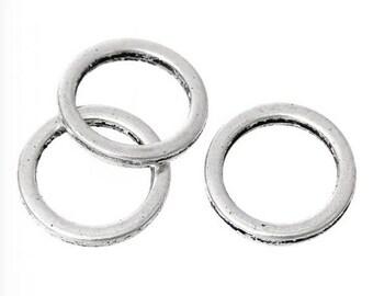 30 farm/connector Metal jump rings silver 12mm