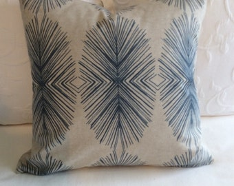 Tulum indigo blue decorative pillow cover 20x20