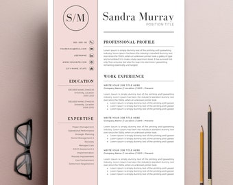 Professional Resume Template | CV Template + Cover Letter + Reference  Letter For MS Word |