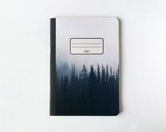 Pine Trees Notebook - Journal - Sketchbook - Blank pages - Lined pages
