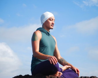 Beanie chapeau - unisexe - blanc - cultivé en Jersey de coton bio - respectueux de l'environnement des hommes