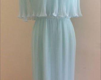 MISS ELLIETTE 1970s CHIFFON Dress