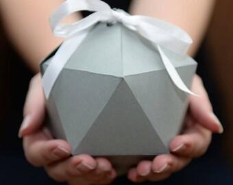 Nesting Boxes, Set of 3, Geometric Nesting Gift Box Set - ASSEMBLED