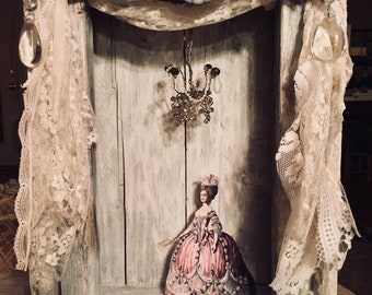 marie antoinette opera themed shadow box