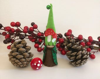 Toadstool Peg Doll Gnome