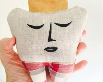 Tooth Fairy Pillow with Plaid Pants
