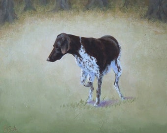 Small painting bird dog
