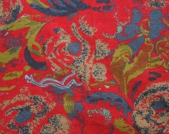 cotton linen fabric cotton linen Multicolor red 0.5m