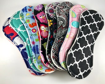 "Wingless Cloth Panty Liners Mystery Pack 7.5"" Set of 5"