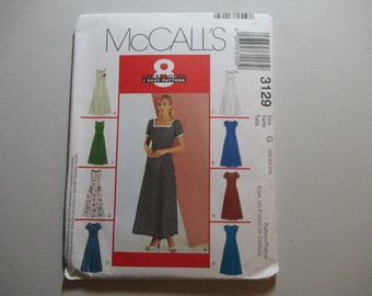 McCall's 3129 Misses' /Miss Petite Dress Sewing Pattern