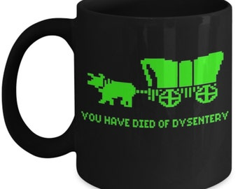 Oregon Trail Gamer Mug - Gamer Mug - Video Game Coffee Mug