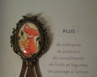 "Bookmark vintage ""Fox"""