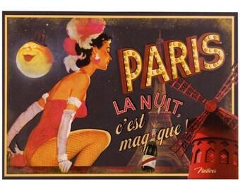 "postcard ""Paris night is magical"""